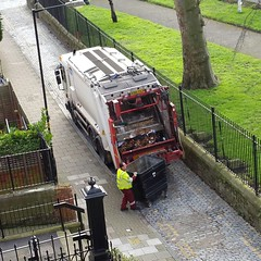 LBTH bin collection day (Carol B London) Tags: road tarmac roadworks cobblestones e1 stepney londone1 towerhamlets stepneygreen eyesores lbth