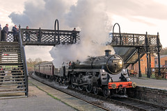 Storming (4486Merlin) Tags: england station europe unitedkingdom derbyshire transport steam railways midlands swanwick gbr midlandrailwaycentre caprotti 73129 heritagerailways exbr brstd5mt460 caprotticrescendo