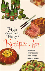 7-Up Goes to a Party - 1961 - Front Cover (shannonlepak) Tags: party vintage recipe cookbook cola pop retro soda 1960s recipes 7up 1961