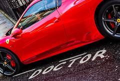 Dr-Ferrari_4917 (1000WordsPic) Tags: red west london sports car speed italian bright fast ferrari doctor much too blast uber overkill indulgent brash sickly