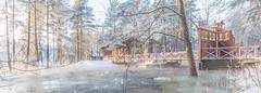 Langinkoski Imperial Fishing Lodge (Jyrki Salmi) Tags: winter snow museum nikon day outdoor sunny rapids nikkor jyrki d600 1635mm salmi langinkoski