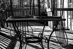 Chairs on Top (Lo8i) Tags: odc ontop week34 7daysofshooting blackandwhitewednesday attheoronthetable
