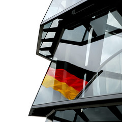 At the helm (Arni J.M.) Tags: building berlin glass architecture germany flag parliament reichstag normanfoster dome atthehelm