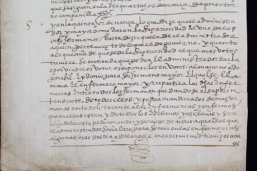 1600 Indios Hospital Medicina Perú Lima ordinances-manuscript Invisible Fragmentoebay.comf
