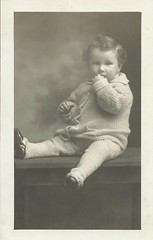 elmer clark mcdaniel jr (timp37) Tags: old baby white black 1 photo december 5 year picture taken jr photograph clark weeks 16th elmer 1917 mcdaniel