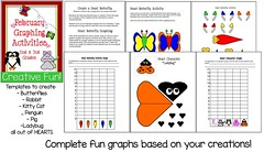 February Creations and Graphing Unit (CHSH - Christian Home School Hub) Tags: crafts math valentines february valentinesday graphing