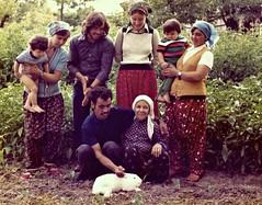 Catherine, family photo with rabbit, 1976 (ali eminov) Tags: rabbit animals children mom parents daughters mothers bulgaria catherine relatives apti sons bulgarie headscarves bulgaristan sevin zeliha ercan fehim polyanovo hayriye durdu shalvars alvars
