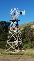 Picturesque old windmill on the island