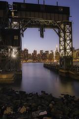The Manhattan View under the Gantry Crane (roba4944) Tags: park long exposure queens merrill sd1