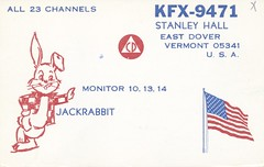 Jackrabbit - East Dover, Vermont (73sand88s) Tags: rabbit vintage vermont americanflag qsl cb cbradio eastdover