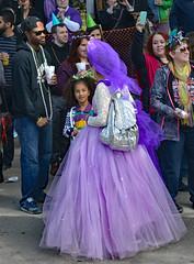 Mardi Gras Purple (BKHagar *Kim*) Tags: street carnival people lady colorful day dress purple neworleans crowd parade celebration napoleon nola mardigras prytania bkhagar kreweoftucksparade