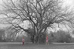 2.14.16_Aud Zoe Treev2 (jrbeckwith) Tags: park girls tree sisters zoe photography photo texas little tx sunday picture daughters jr audrey tiny valentines fortworth arcadia treeoflife easteregg 2016 beckwith daddydaughter jbeckr