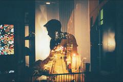 Playing Dead (Louis Dazy) Tags: street city playing game film silhouette skyline analog video nikon exposure grain double 100 f2 pushed ektar