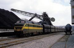 6048  Ruien  24.02.88 (w. + h. brutzer) Tags: analog train nikon eisenbahn railway zug trains locomotive 60 belgien lokomotive diesellok eisenbahnen sncb ruien dieselloks webru