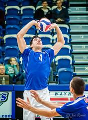 IPFW men's volleyball - set (rikki480) Tags: men college set ball jump hands university touch indiana indoor butter volleyball contact purdue fortwayne setter dons mastodons ipfw gatescenter