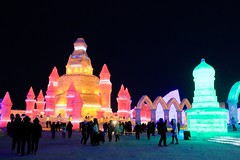Ice festival (melisalives) Tags: china winter light holiday snow color ice colors festival lights frozen harbin