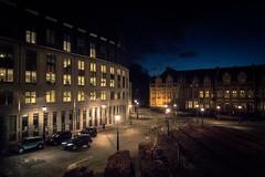 Le jour n'est pas encore lev mais Lige ne dort dj plus... (Gilderic Photography) Tags: street canon lights belgium belgique belgie liege nuit g7x gilderic