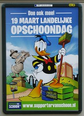 poster DD (streamer020nl) Tags: holland duck nederland donald cleaning clean nationale 2016 schoonmaken schoon prul opschoondag 190316