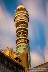 Clouds Flying Past the BT Tower, London