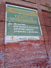 Wm. Rabinowitz & Sons, Allentown, PA (Robby Virus) Tags: house brick sign wall factory pennsylvania ghost ad william wm advertisement machinery textile faded fabric spinning signage winding dye weaving narrow allentown finishing rabinowitz