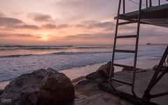 Oceanside, CA (IG: cruzphotos) Tags: california sunset cloud tower beach water beautiful clouds rocks cloudy lifeguard oceanside lifeguardtower