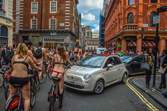 Sin City (Le monde d'aujourd'hui) Tags: street london bike nude cycling fiat soho protest cycle sin coventgarden westend tgifridays 2015 worldnakedbikeride maidenlane wnbr chandosplace