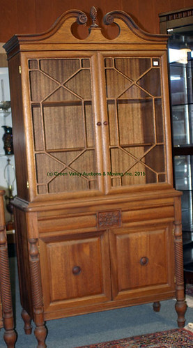 Finch Fine Furniture Co. Mahogany Sideboard and China Press with Rope Turned 1/2 Columns - $935.00 (Sold July 31, 2015)