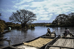 Connecting people? (Shams E Tabreez (Niloy)) Tags: sky people cloud tree water river landscape boats nikon lifestyle 18105 d7000
