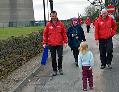 Smiles all around (littlestschnauzer) Tags: charity uk news west sport paul walk yorkshire smiles harry relief bbc local mast moor fundraising 3legged emley 2016 3leg bbc3legs