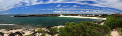 1493 - Pano - Dynamite Bay, Green Head, Western Australia (Traveling Man  Off to Singapore) Tags: summer panorama plants cloud house sexy beach nature water beautiful outside coast town surf natural outdoor oz turquoise hill australian australia bluesky sealife brush clear wa environment cloudless aus coa whitesand scrub westernaustralia downunder clearsky bluegreen headland australasia oceania greenhead rockycliff touristdestination canonef24105mmf4lisusm commonwealthofaustralia dryclimate constitutionalmonarchy midwestregion dynamitebay circularbay canoneos5dmarkiii coorowshire indoaustralianplate worldssmallestcontinent leeuwincurrent shireofcoorow