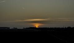 March sunset in Belgium (Jensduthoo) Tags: orange sun rural countryside belgium jens duthoo