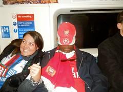 Arsenal v Palace (2015/16) (Paul-M-Wright) Tags: london train crystal stadium sunday tube palace victoria line emirates april match 17 fans premier arsenal league versus 2016 cpfc