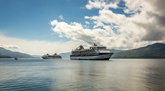 Celebrity Millennium and Celebrity Reflection at Icy Strait Point