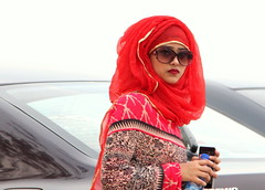 ~when hijab become fashion~ (~~ASIF~~) Tags: red portrait cute girl beauty women outdoor hijab lovely sungless canon60d