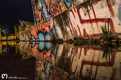 street art (ma_rohe) Tags: nightphotography reflection puddle graffiti reflejo puddles reflejos reflects grafitty charco charcos grafittyart