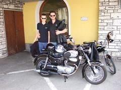PUCH 250 SG + PUCH Moped (John Steam) Tags: salzburg vintage austria meeting motorbike motorcycle oldtimer moped puch motorrad 2014 hallein gasthof oldtimertreffen zweitakt kirchenwirt puchtreffen 250sg