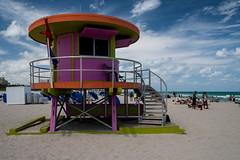 10th Street Life Guard Tower (g_heyde) Tags: usa beach strand florida mimo artdeco miamibeach southbeach lifeguardtower 10thstreet xpro1
