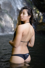 Kat (Marvin Chandra) Tags: portrait pool 50mm hawaii waterfall model stream oahu jungle d600 nuuanu luakahafalls marvinchandra katsweets