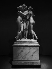 The Three Graces by Antonio Canova (Steve Taylor (Photography)) Tags: uk greatbritain england blackandwhite sculpture woman london art monochrome stone museum lady contrast italian women unitedkingdom monotone carving va threegraces gb marble antonio handmaiden victoriaandalbert canova