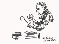 A-Trane Jazzclub Vibraphonist  -  Detlef Surrey (Detlef Surrey) Tags: concert jazz sketchbook jazzclub skizze livemusik urbansketches