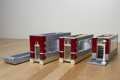 Modular 8 Wide Apartment Building (Crustyfur) Tags: house building apartment lego modular darkred minifigure narrowhouse 8wide