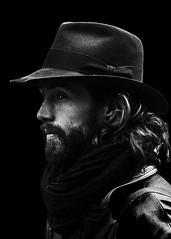 D80_438404 (Itzick) Tags: man hat blackbackground copenhagen beard denmark candid d800 bwportrait itzick