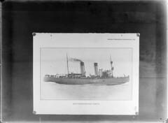 Sampo; jäänmurtaja sivulta nähtynä lähikuvassa (KansallisarkistoKA) Tags: icebreaker sampo jäänmurtaja