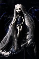 Gargoyle (mrs.Melenka) Tags: monster high wings doll ooak bat gargoyle fantasy custom rochelle succubus repaint melenka monsterhigh rochellegoyle