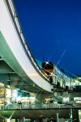 TAMA Monorail in the evening (roba4944) Tags: japan train tokyo v3 monorail nikon1