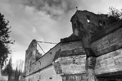 It ain't right just because it's in black and white (OR_U) Tags: sky blackandwhite bw reflection castle clouds germany blackwhite upsidedown decay ruin surreal oru schwarzweiss deeppurple 2016 harbke