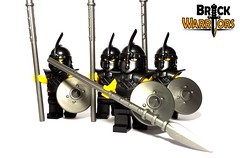In the Army (BrickWarriors - Ryan) Tags: castle soldier army lego medieval fantasy armor shield arabian pike custom weapons helmets minifigure thrall brickwarriors