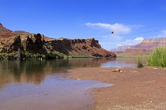 Lee's Ferry (oxfordblues84) Tags: blue arizona sky cloud reflection water clouds reflections river bluesky rafting coloradoriver grandcanyonnationalpark coconinocounty roadscholar roadscholartour roadscholartrip grandcanyonnationalparkexploringthenorthandsouthrims roadscholarorg