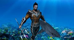 Lord of Atlantis (Noddington Schmooz) Tags: comics dc sl secondlife aquaman jla noddington noddingtonschmooz