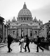 Come back (Italo do Valle) Tags: travel italy rome roma church blackwhite basilica streetphotography vaticano sanpietro